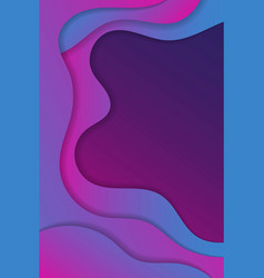 abstract wave background design vector image