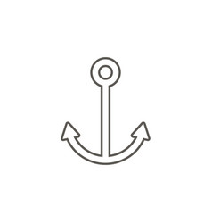 anchor icon simple element from map and vector image