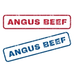Angus Beef Rubber Stamps vector