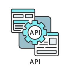 Api color icon application programming interface vector