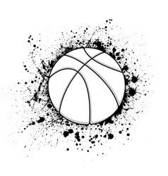 basketball grunge symbol vector image