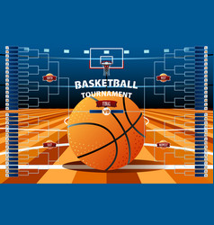 basketball tournament bracket template vector image
