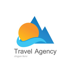 Beach travel logo vector