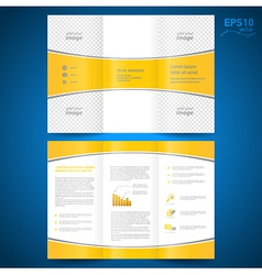 brochure perspective yellow curve bend line white vector image