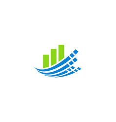 business finance technology logo vector image