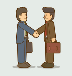 businessmen handshake successful business graphic vector image