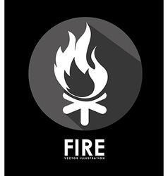 campfire signal vector image