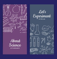 Card or flyer template with science or vector