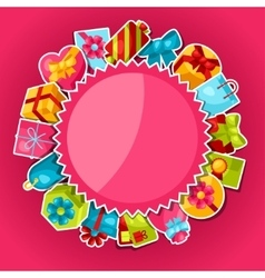 Celebration background or card with colorful vector image