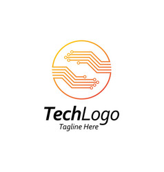Circuit technology logoletter s with hand shape vector