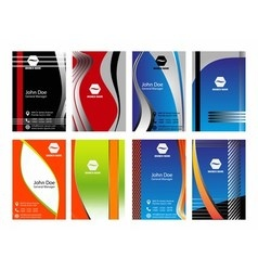 Colorful Vertical Business Cards vector image