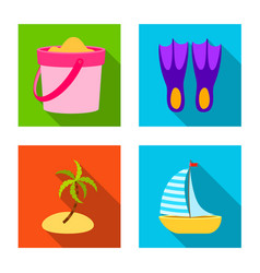 design of equipment and swimming sign set vector image