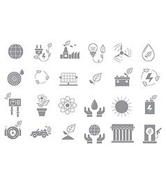 Eco gray icons set vector image vector image