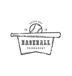 emblem baseball college tournament vector image