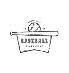 emblem of baseball college tournament vector image