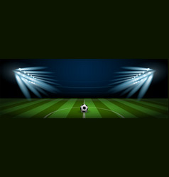 empty football field arena stadium vector image