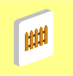 Fence computer symbol vector