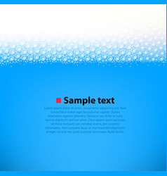 Foamy water bright background vector