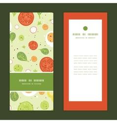 fresh salad vertical frame pattern vector image