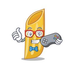 Gamer penne pasta character cartoon vector