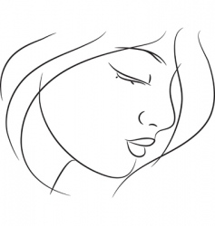 girl sketch vector image