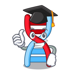 Graduation dna molecule character cartoon vector