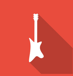 Guitar icon with a long shadow vector