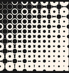 Halftone seamless pattern with circles dots vector