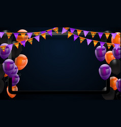 halloween carnival background orange purple vector image