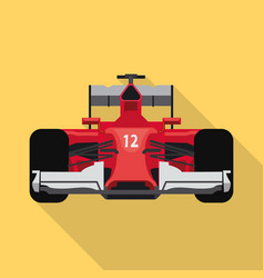 Isolated object of car and rally symbol vector