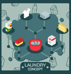 laundry color isometric concept icons vector image