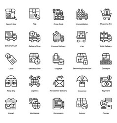 Logistic delivery icons set 4 vector