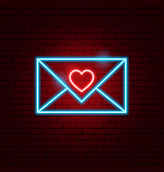 love letter neon sign vector image