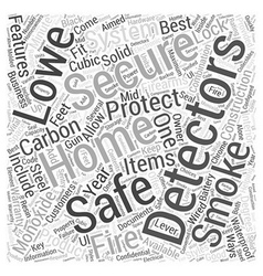 Lowes Home Security System Word Cloud Concept vector