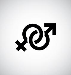 Male female symbol vector