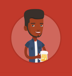 Man drinking beer vector