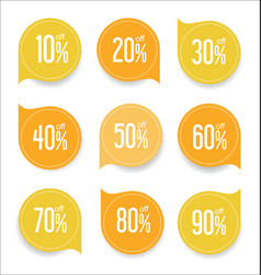 modern offer sale yellow tag isolated vector image