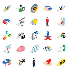 New workforce icons set isometric style vector