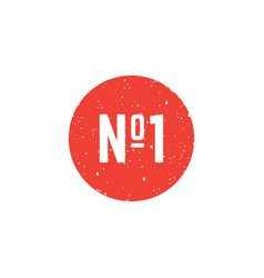 number one round icon vector image