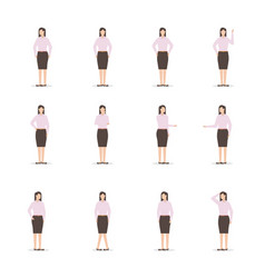 office business woman character vector image