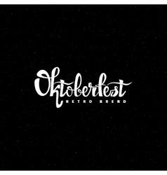 Oktoberfest- vintage typography emblem grunge vector