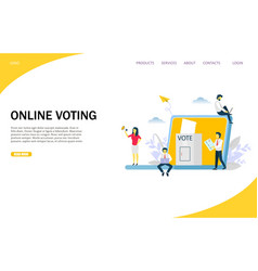 online voting website landing page design vector image