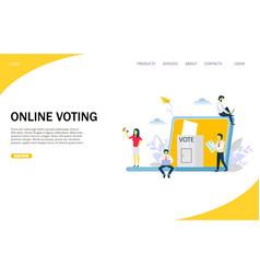 Online voting website landing page design vector