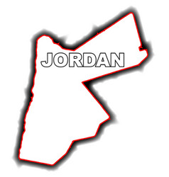Outline map of jordan vector
