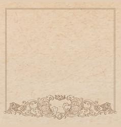 Paper cardboard with vintage frame vector