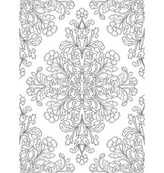 Pattern with ornamental flowers vector