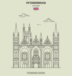 peterborough cathedral in peterborough vector image