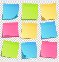 Realistic sticky note with shadow yellow paper vector