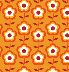 Retro geometric flowers pattern 07 vector