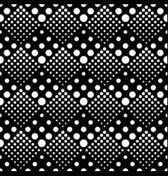 retro geometrical black and white dot pattern vector image